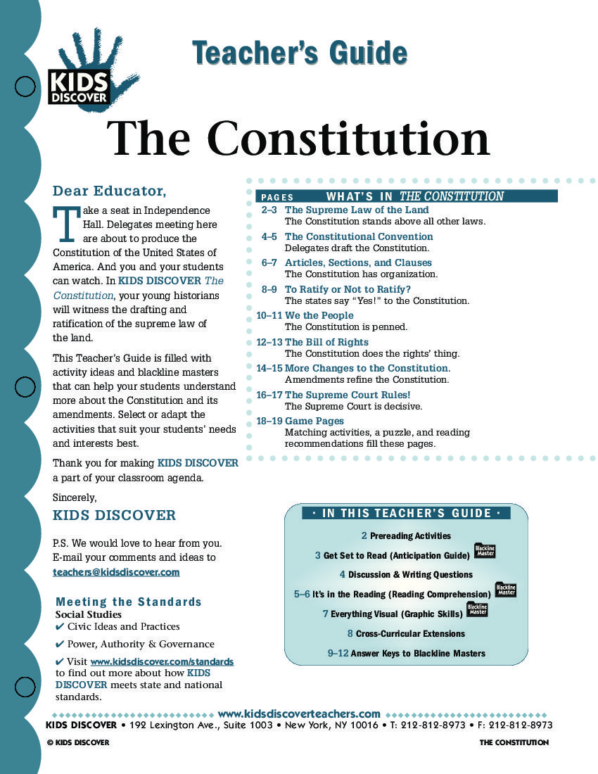 Constitution Kids Discover Sign Up For Free Kids Discover Download For Free Free Lesson Plans Social Studies Lesson Government Lessons