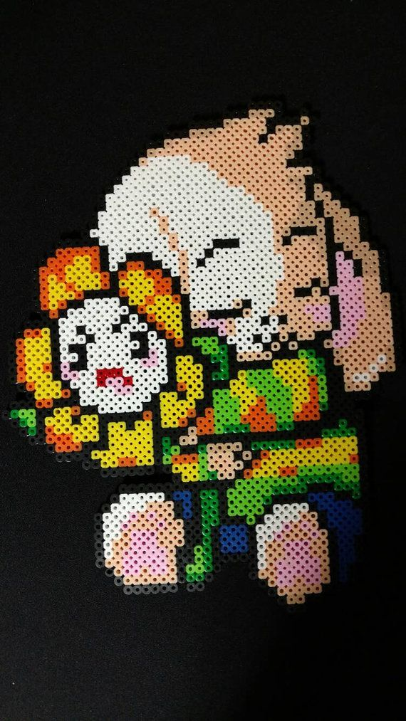 Asriel From Undertale Measures Approx 12 Made From Perler Beads