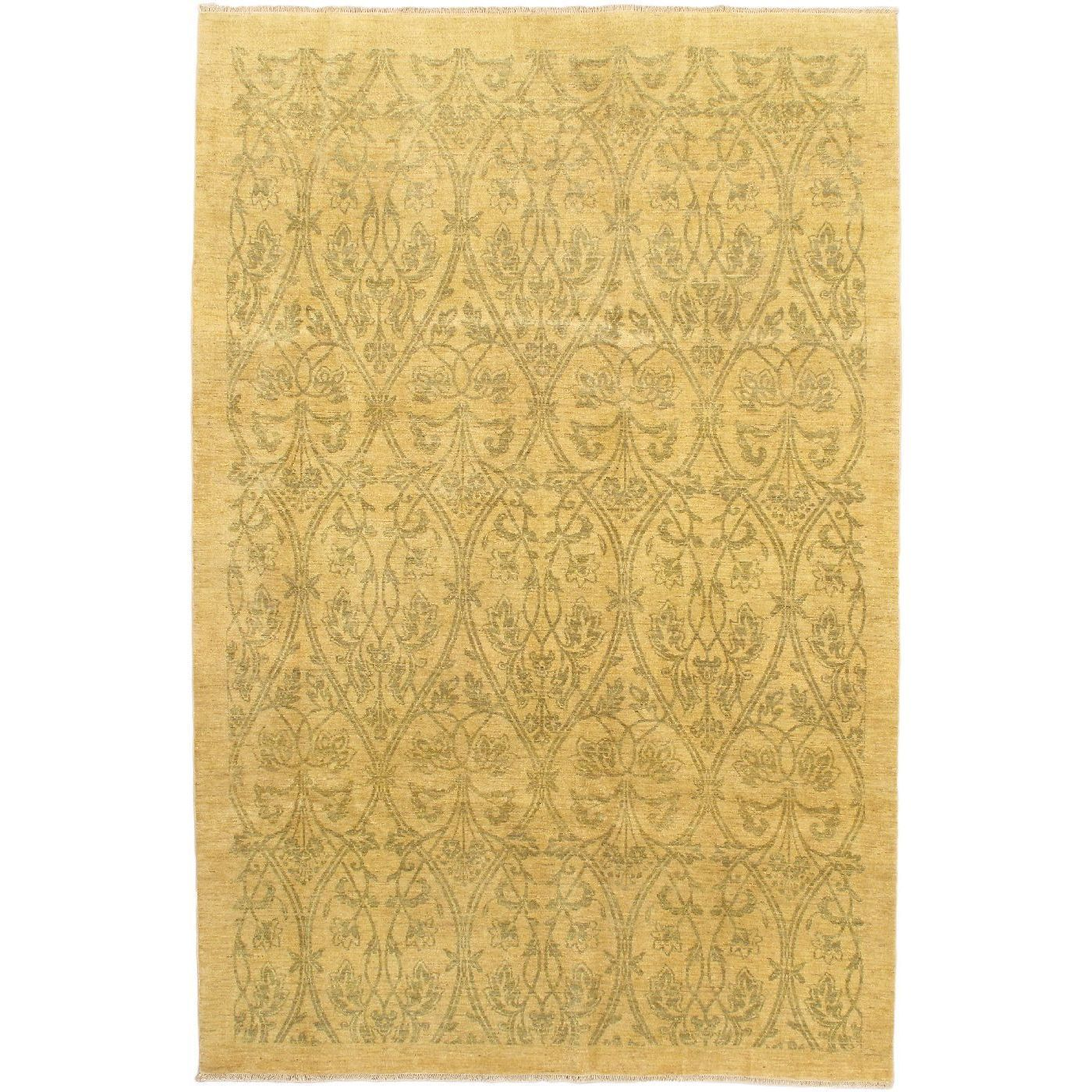 eCarpetGallery Chobi Hand-knotted Beige Wool Rug (5'11 x 8'11) (Beige Rug (5' x 8')), Size 5' x 8' (Cotton, Oriental)