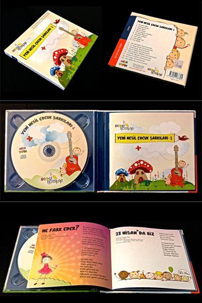 Renkli Notalar: Yeni Nesil Çocuk Şarkıları, 1. Çocuk şarkıları müzik albümü, CD.