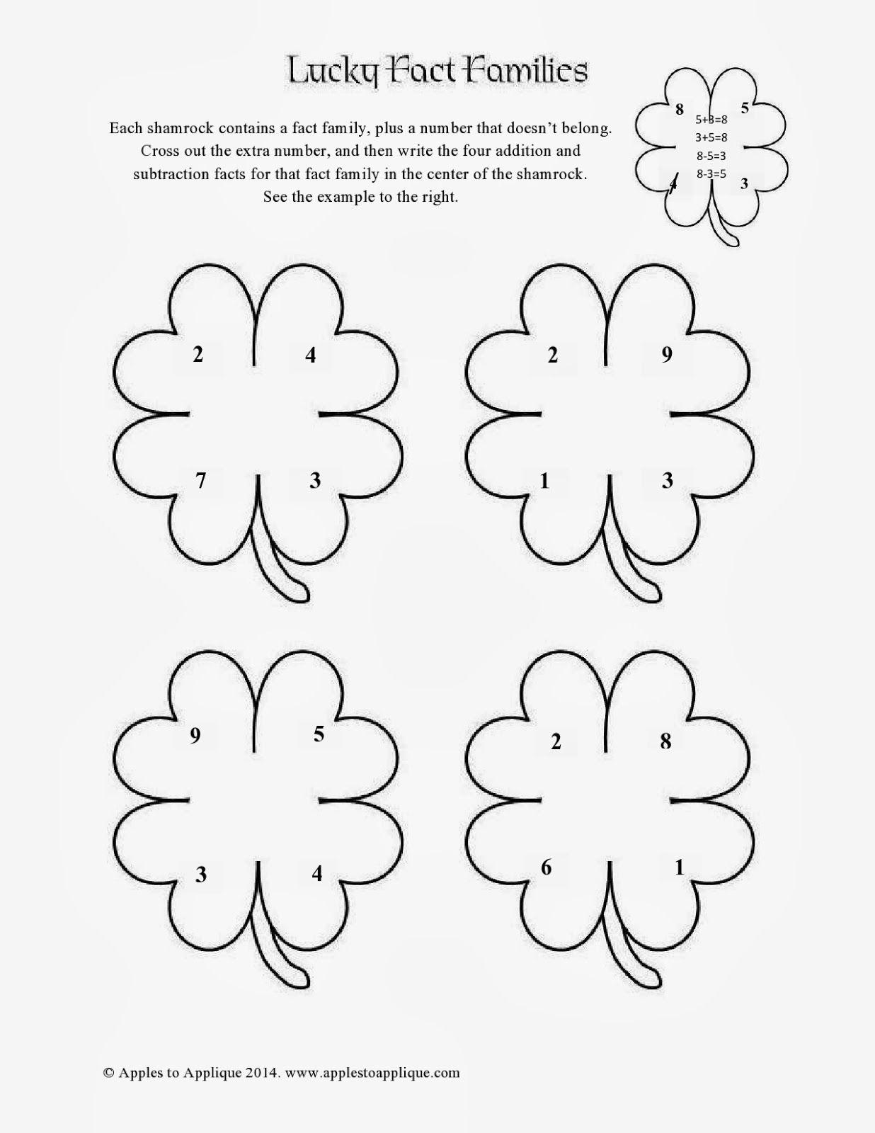 Free St Patricks Day Math Printables