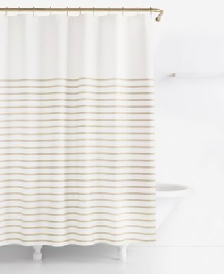 Kate Spade New York Harbour Stripe Shower Curtain Striped CurtainsBathroom CurtainsFabric