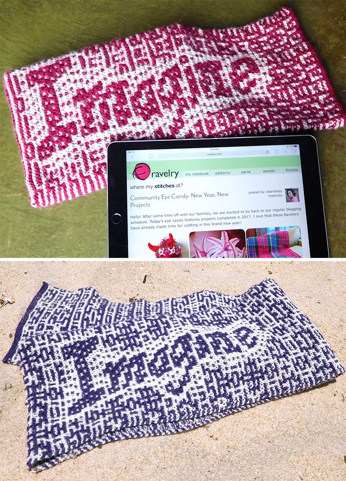 Free Knitting Pattern for - Pattern for long pouch, tablet cozy or ...