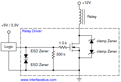 Relay Driver, Internal IC Schematic | power diagram | Pinterest ...