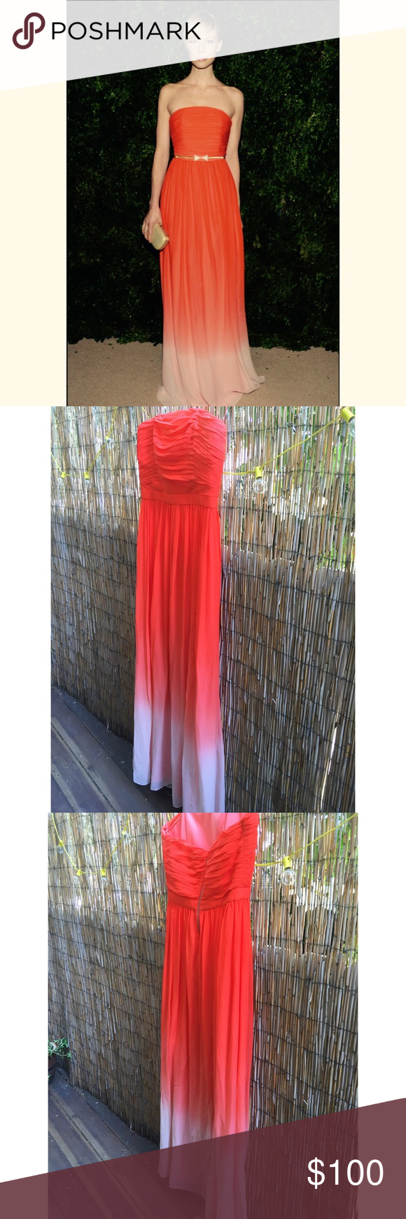Sale erin fetherston long silk ombré dress gorgeous silk erin by