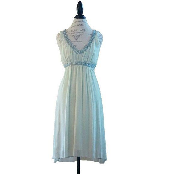 Gigi jeweled chiffon dress 0 mint sorbet Mint sorbet green Arden B Dresses High Low