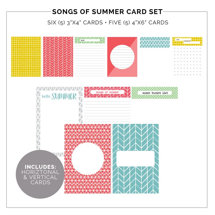 FREE 'Songs of Summer' Pocket Cards - Charlie Fox Paper Co.