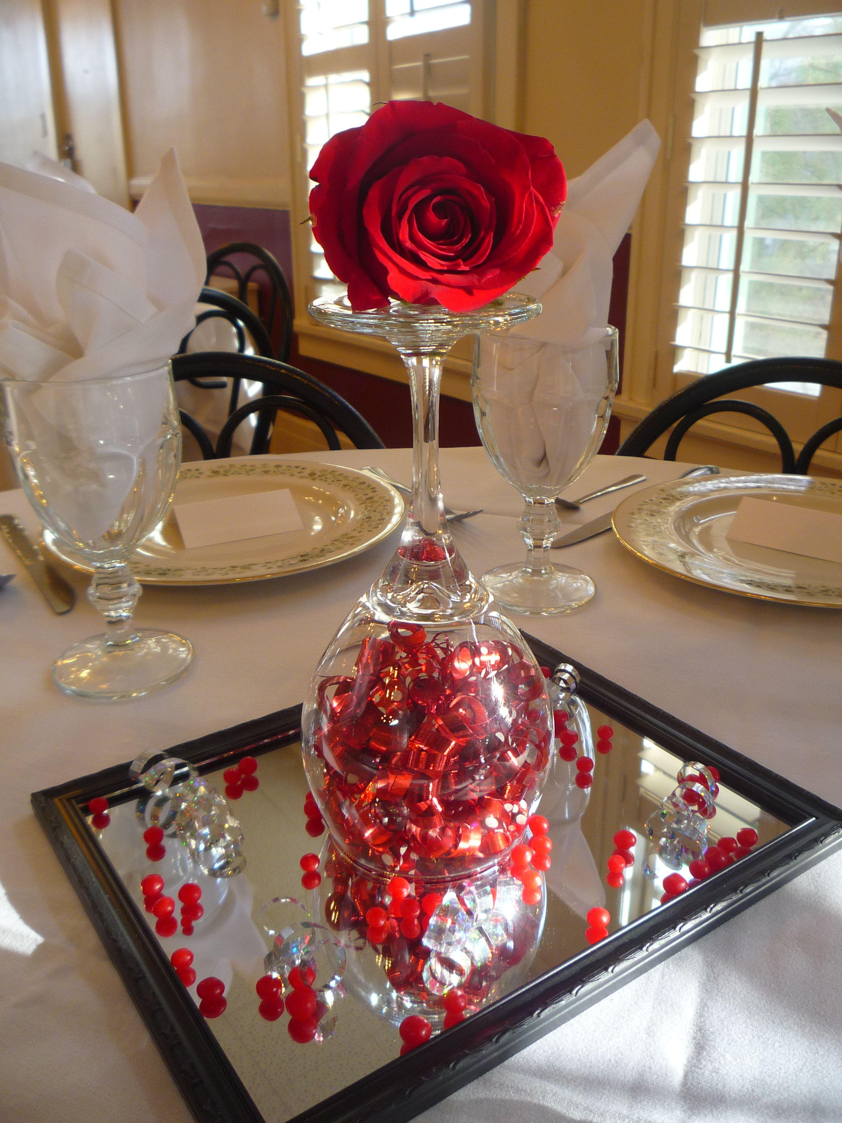 Valentines Day Dinner Table Centerpieces Valentines Dinner Centerpiece
