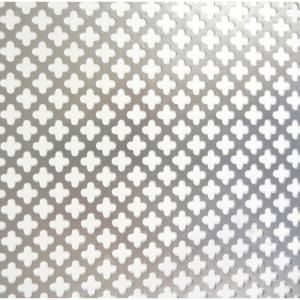 M D Building Products 36 In X 36 In Cloverleaf Aluminum Sheet Silver 57166 The Home Depot M D Building Products Aluminium Sheet Radiator Screen