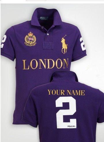 Ralph Lauren Skinny-Fit Short Sleeve Polo London Purple  97c903822076b