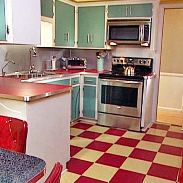 Vintage Kitchen...love the floor