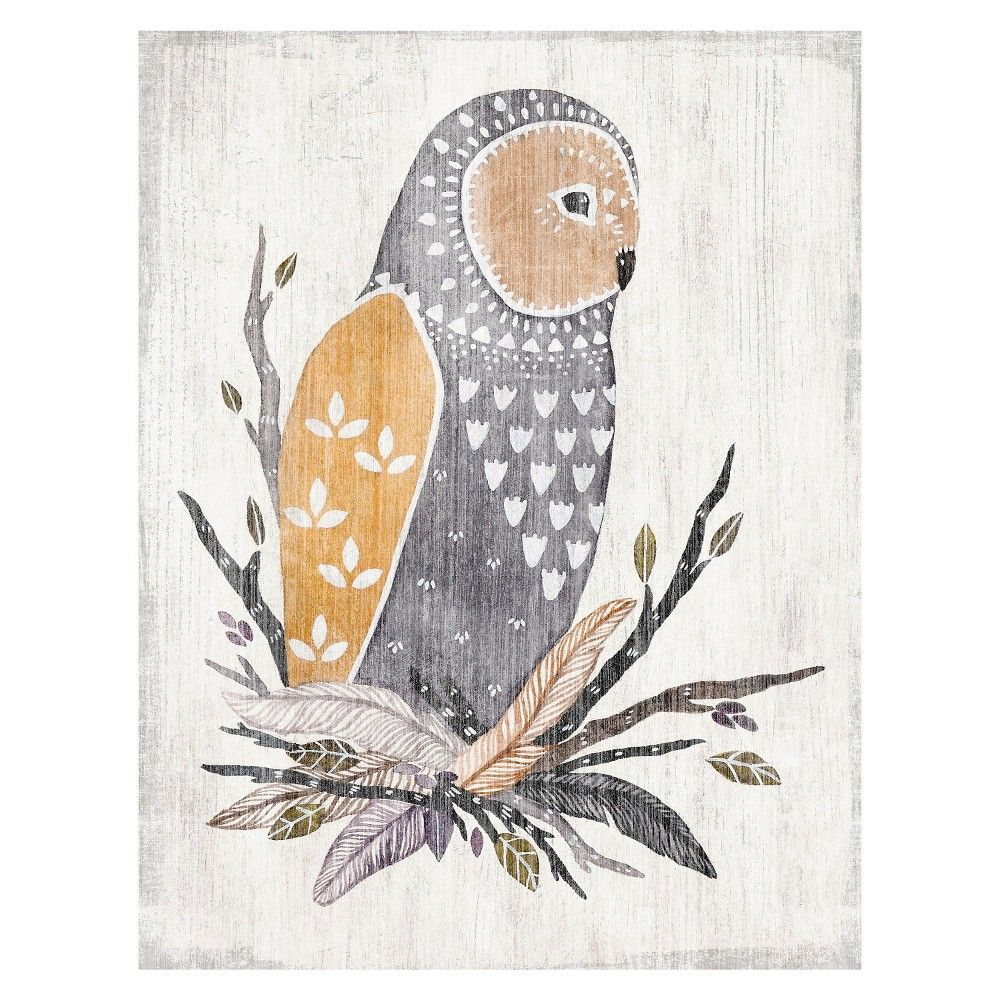 10x13 River Luna Wood Box Owl,