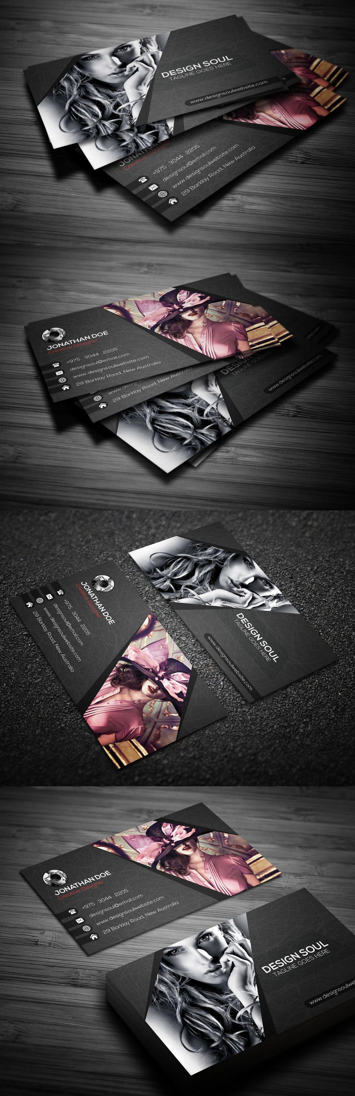 Photography Business Card Template PSD | Business Card Templates ...