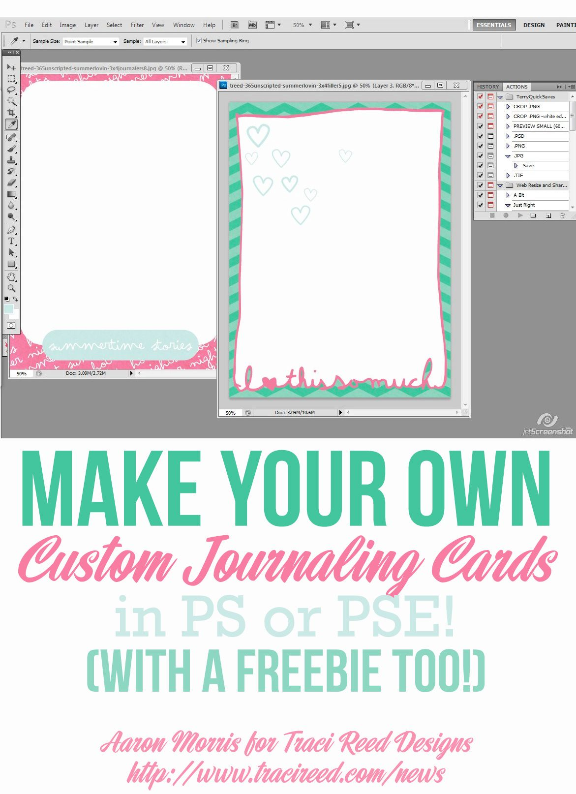 make your own journaling cards tutorial free card