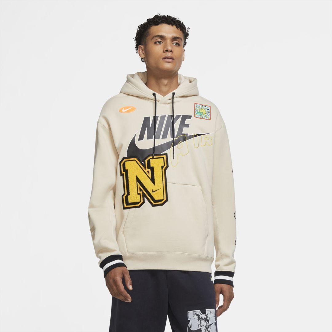 Nike Sportswear Men S Pullover Hoodie Oatmeal Hoodies Men Pullover Nike Sportswear Mens Pullover Hoodie [ 1080 x 1080 Pixel ]