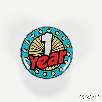 Years Of Service Pins - 1 Year
