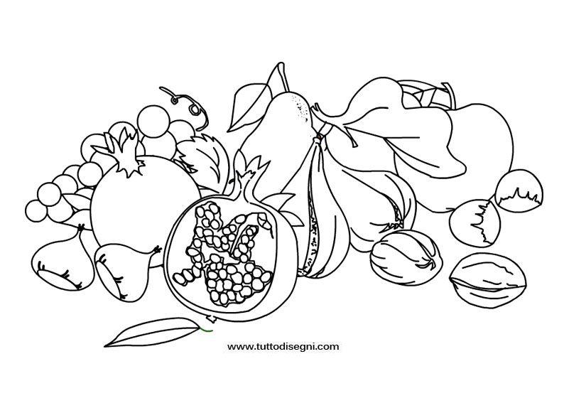 Frutta Autunnale Disegno Da Colorare Disegni Disegni Da
