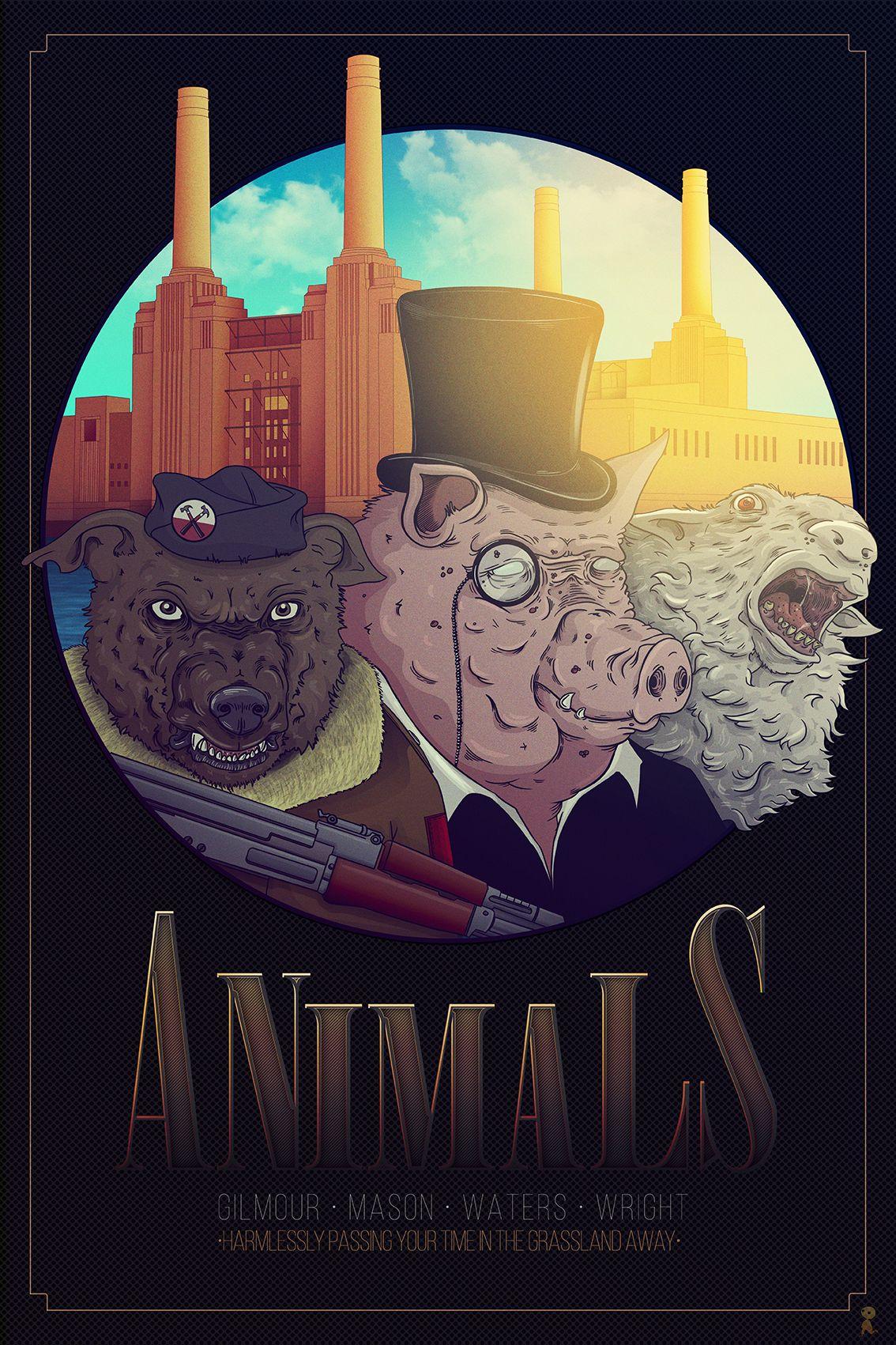 Pink Floyd Animals On Behance Pink Floyd Art Pink Floyd