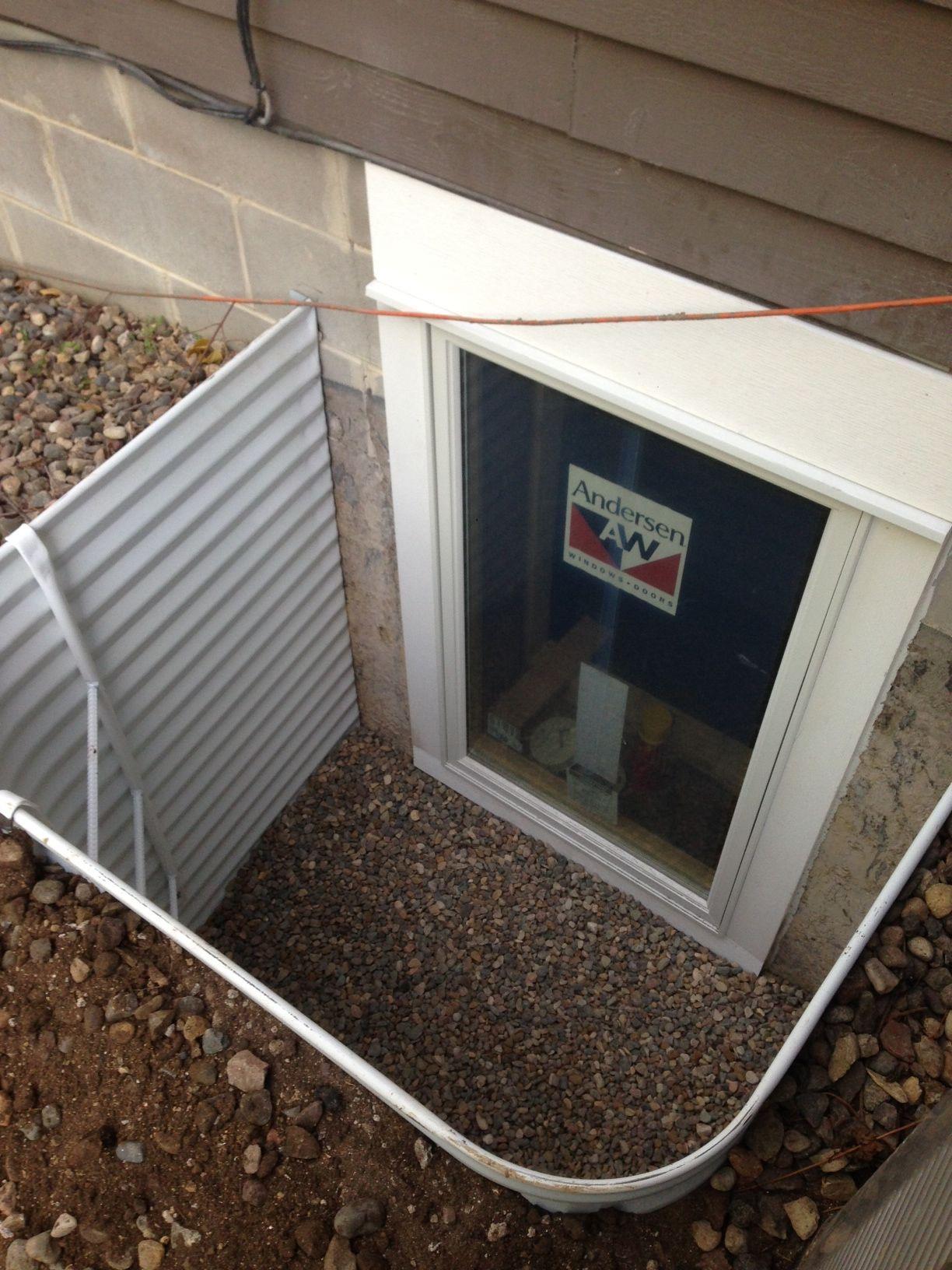 White Metal Well Affordable Egress Windows Basement Waterproofing Llc 763 267 3891 Egress Window Well Egress Window Window Well