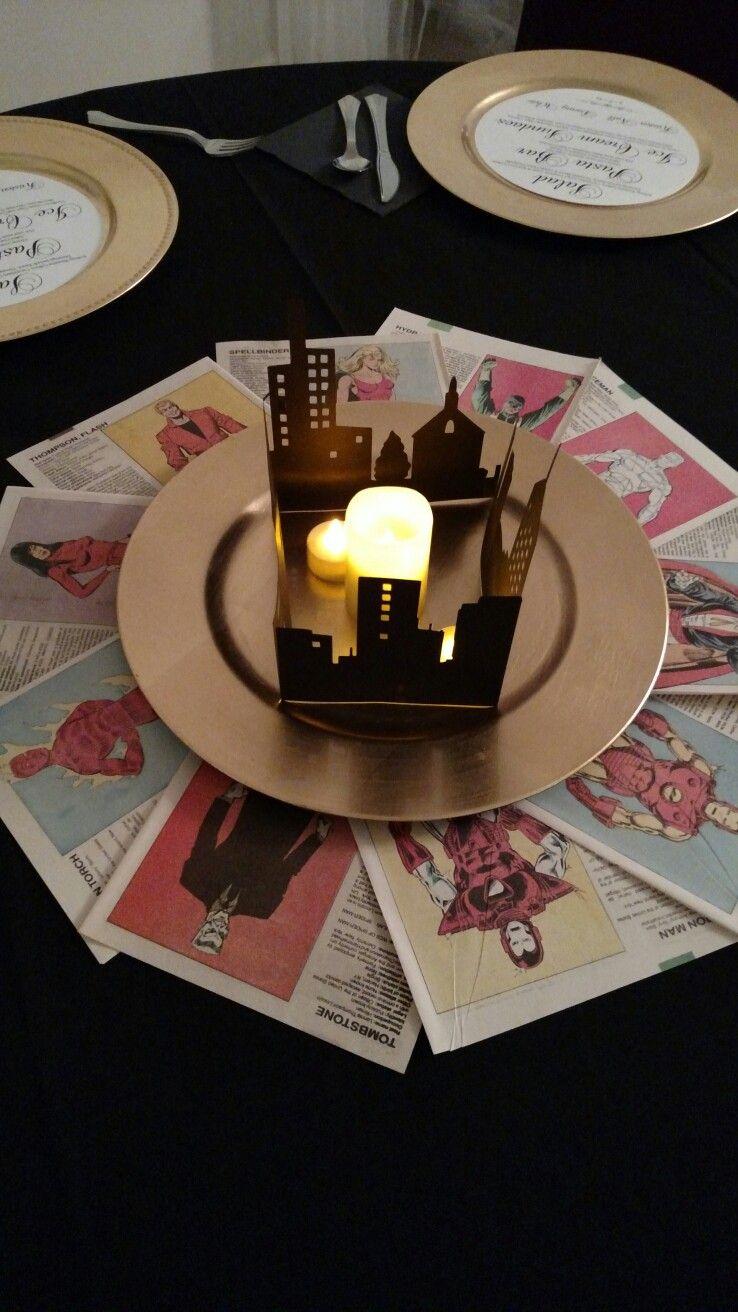 Matrimonio Tema Marvel : Centros de mesa salón en boda bodas tematicas y