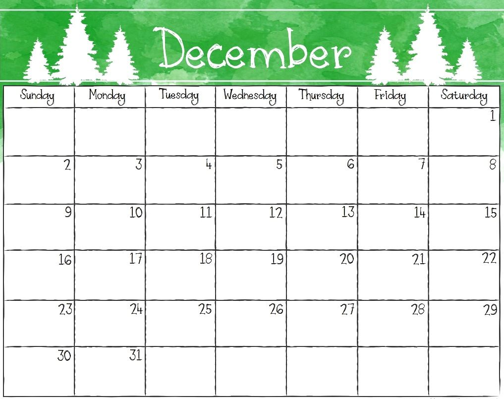 Cute Christmas December Calendar 2019 Cute December 2018 Calendar for Desktop | 69+ Cute December 2018