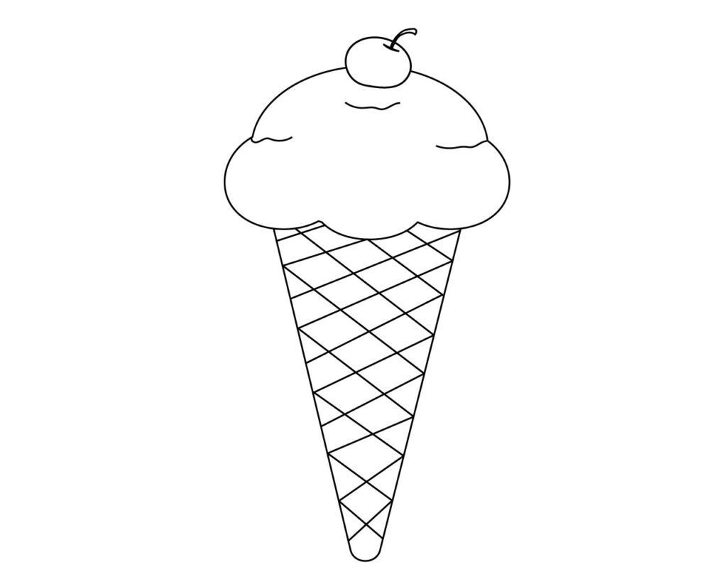 Ice Cream Coloring Pages Cone Popsicle With Images