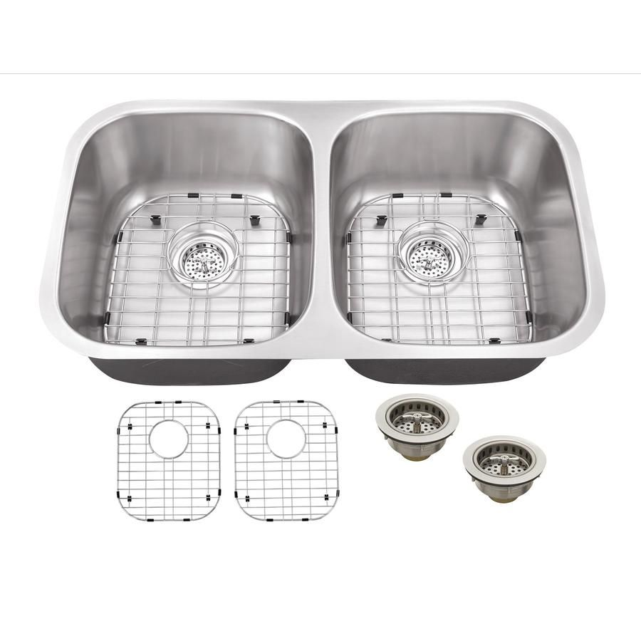 Shop Superior Sinks 18.5-in x 32.5-in Satin Brush Stainless Steel ...
