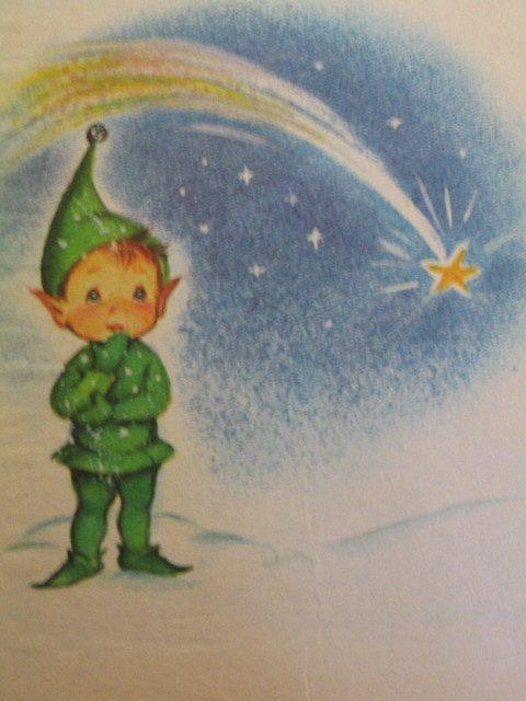 Santa S Runaway Elf Vintage Junior Elf Book By Jean Lewis Marjorie Cooper Illustrations 19 Vintage Christmas Images Vintage Christmas Cards Christmas Books