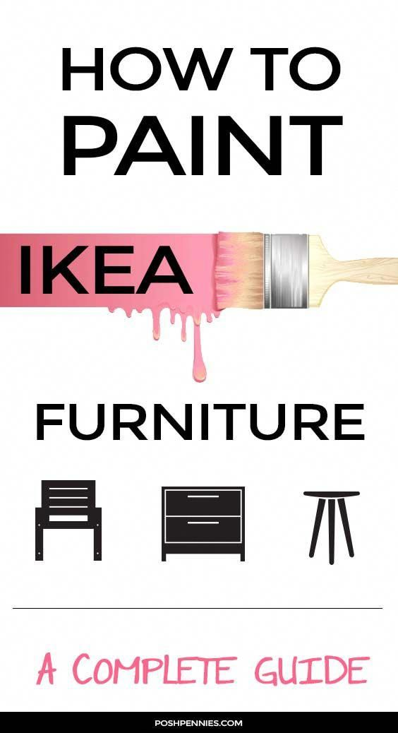 Become a pro IKEA painter by following these simple tips. Amazing results are guaranteed! Learn exactly what you need to do to paint on laminate, solid wood and metal furniture, when to use a primer, and when to sand. And everything else you ever wanted to know aobut furniture painting techniques! #ikeahack #diyproject #howtopaintonfurniture #furniturepainting #furnituremakeover #paintfurnitureDIY #paintinglaminate #howtopaintlaminate #ikeapainting #painti #diymakeup
