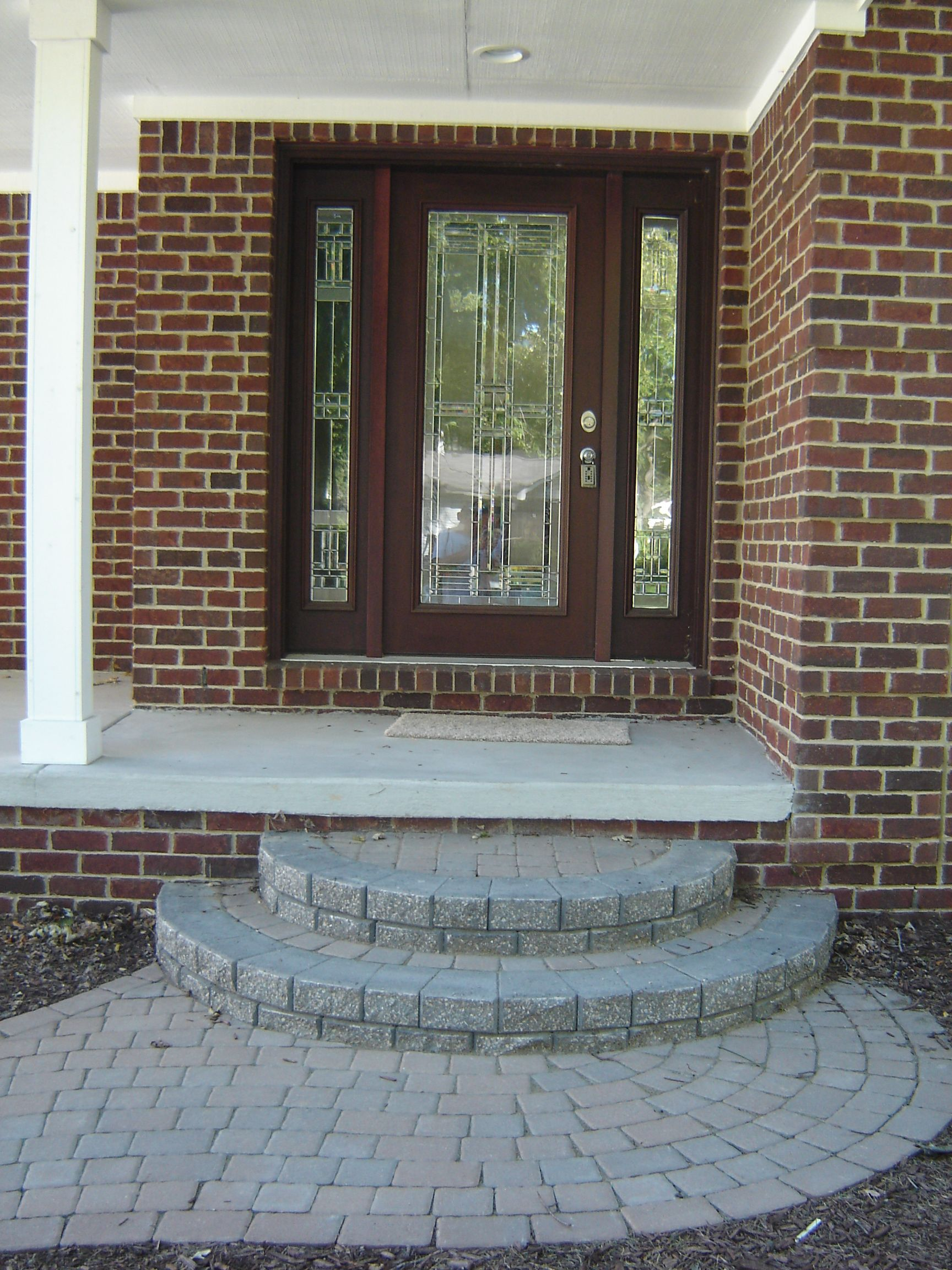 Round Brick Paver Split N Stack Steps