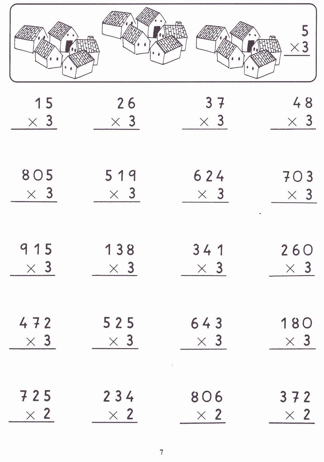 Fichas Para Niños Multiplicaciones Por Una Cifra Actividades De Multiplicación Ejercicios De Calculo Multiplicacion Ejercicios