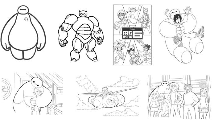 Kids N Fun 35 Big Hero 6 Coloring Pages And Crafts