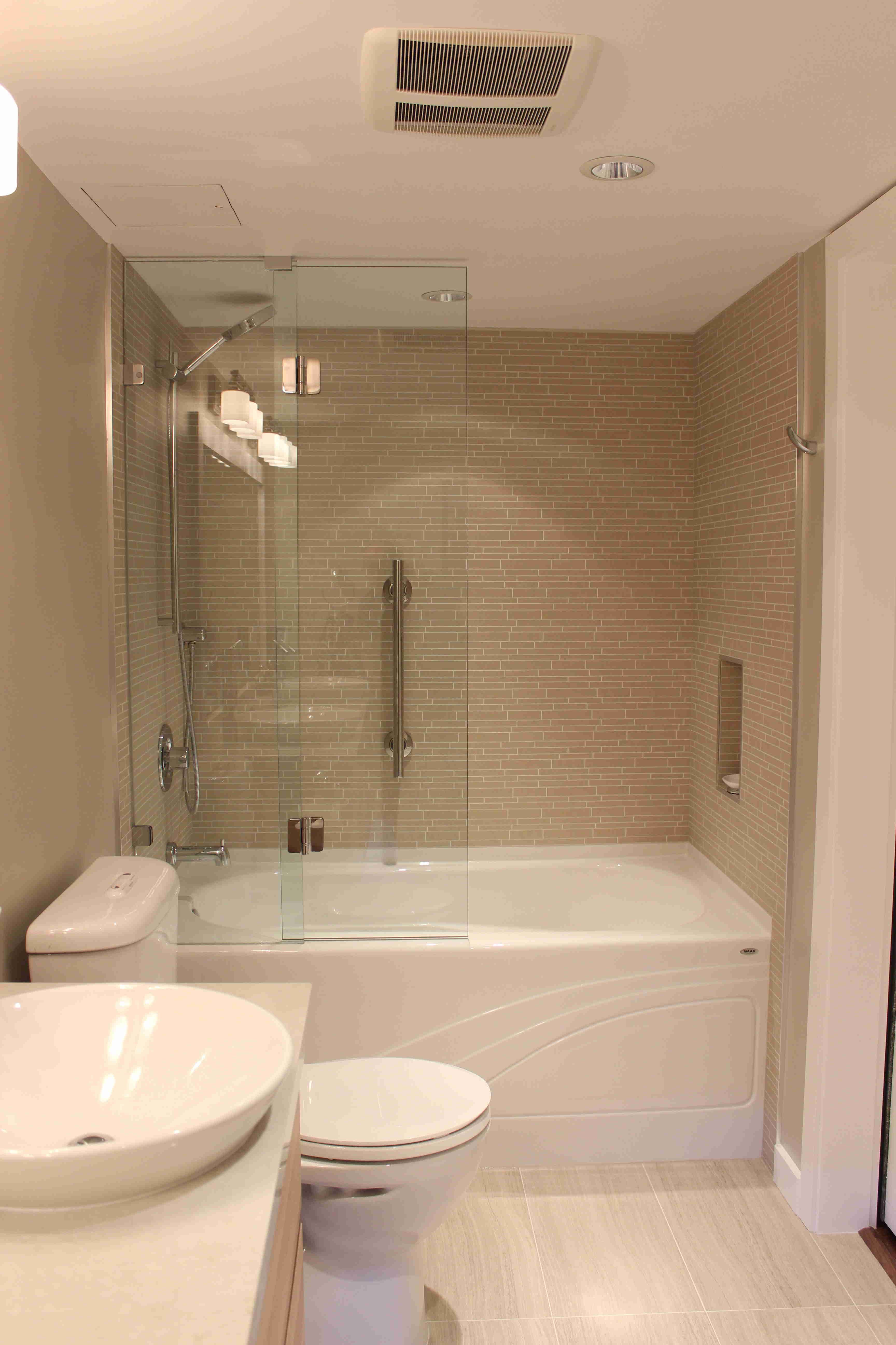 Check Out This Contemporary Master Bathroom Remodel In A False Creek Condo In Vancouver Let