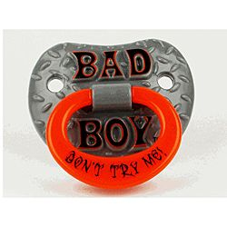 @Overstock - This pacifier is funny, yet functional and safe.  You are sure to get a few double takes whenever this unique pacifier is in use.  http://www.overstock.com/Baby/Bad-Boy-Pacifier/5797975/product.html?CID=214117 $5.61
