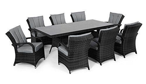 Garden Furniture Houston san diego rattan garden furniture houston grey 8 seater rectangle