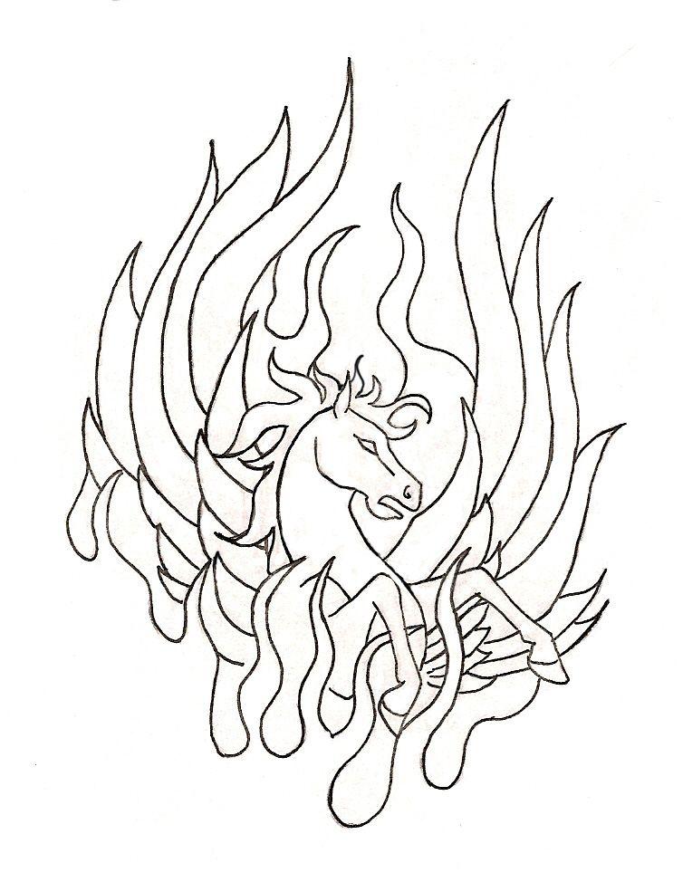 phoenix horse tattooteekyrin on deviantart  horse