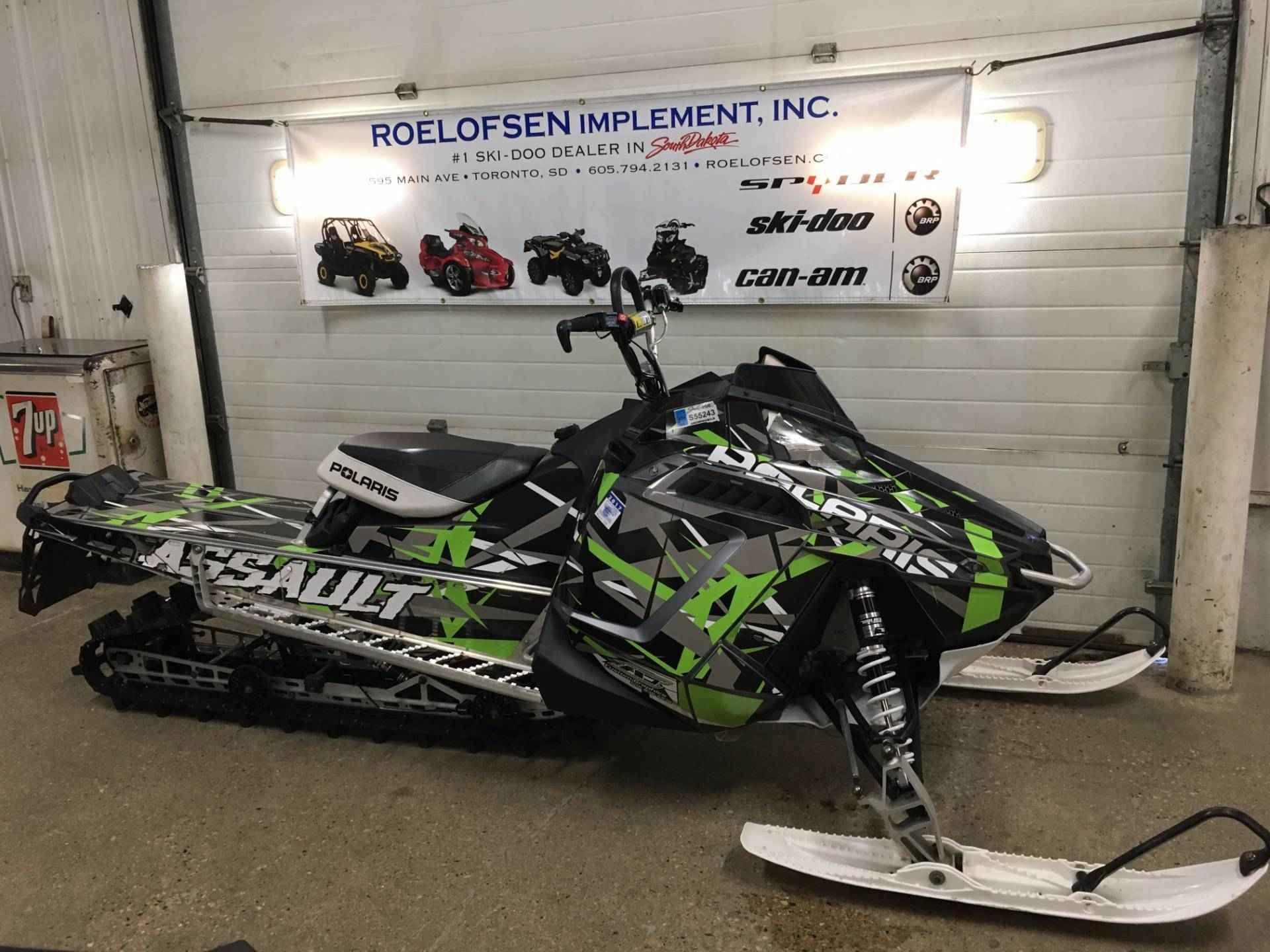 Used 2015 Polaris 800 RMK® Assault 155 ES Snowmobile For
