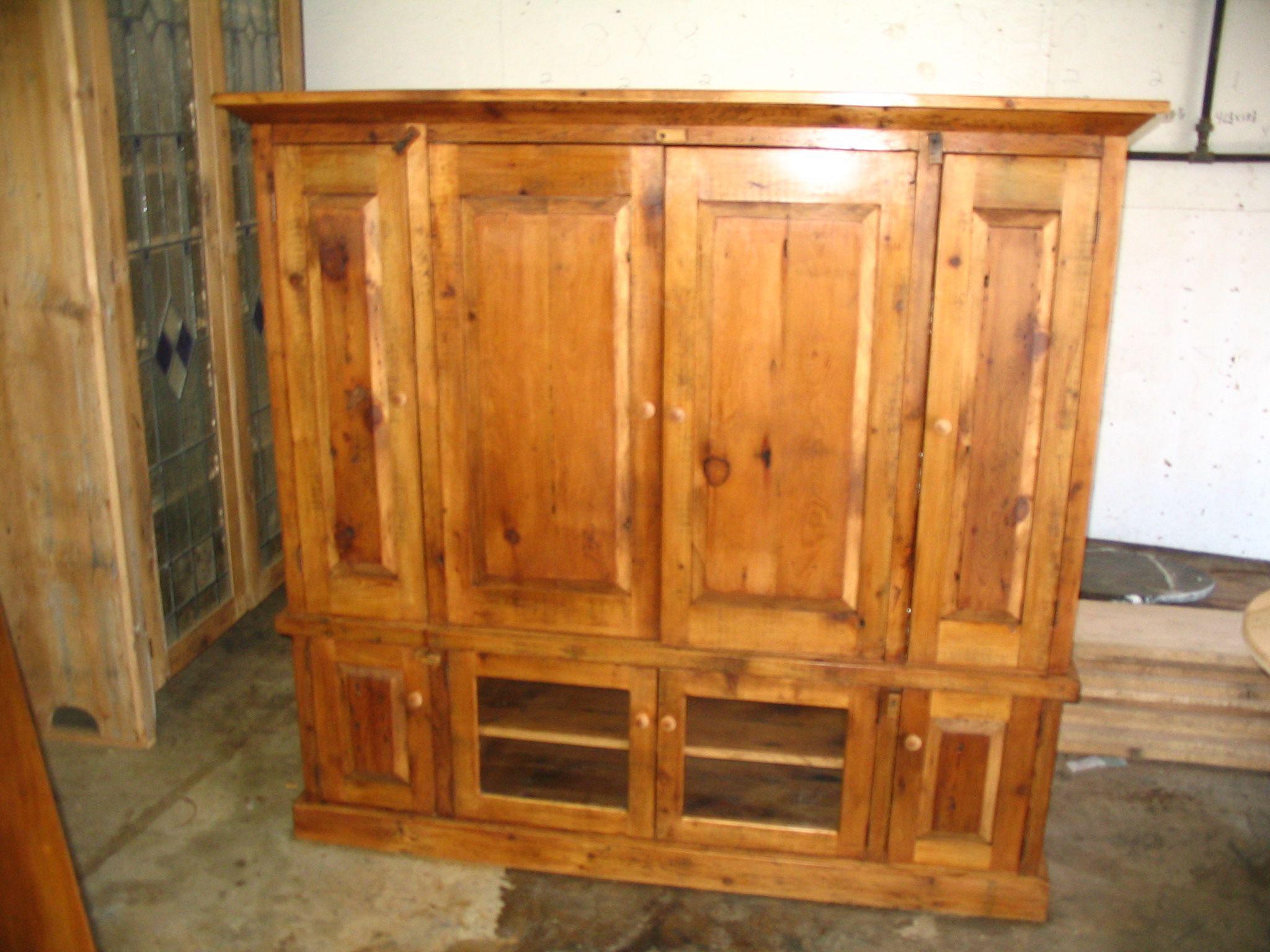 barn wood entertainment center Reclaimed barn wood