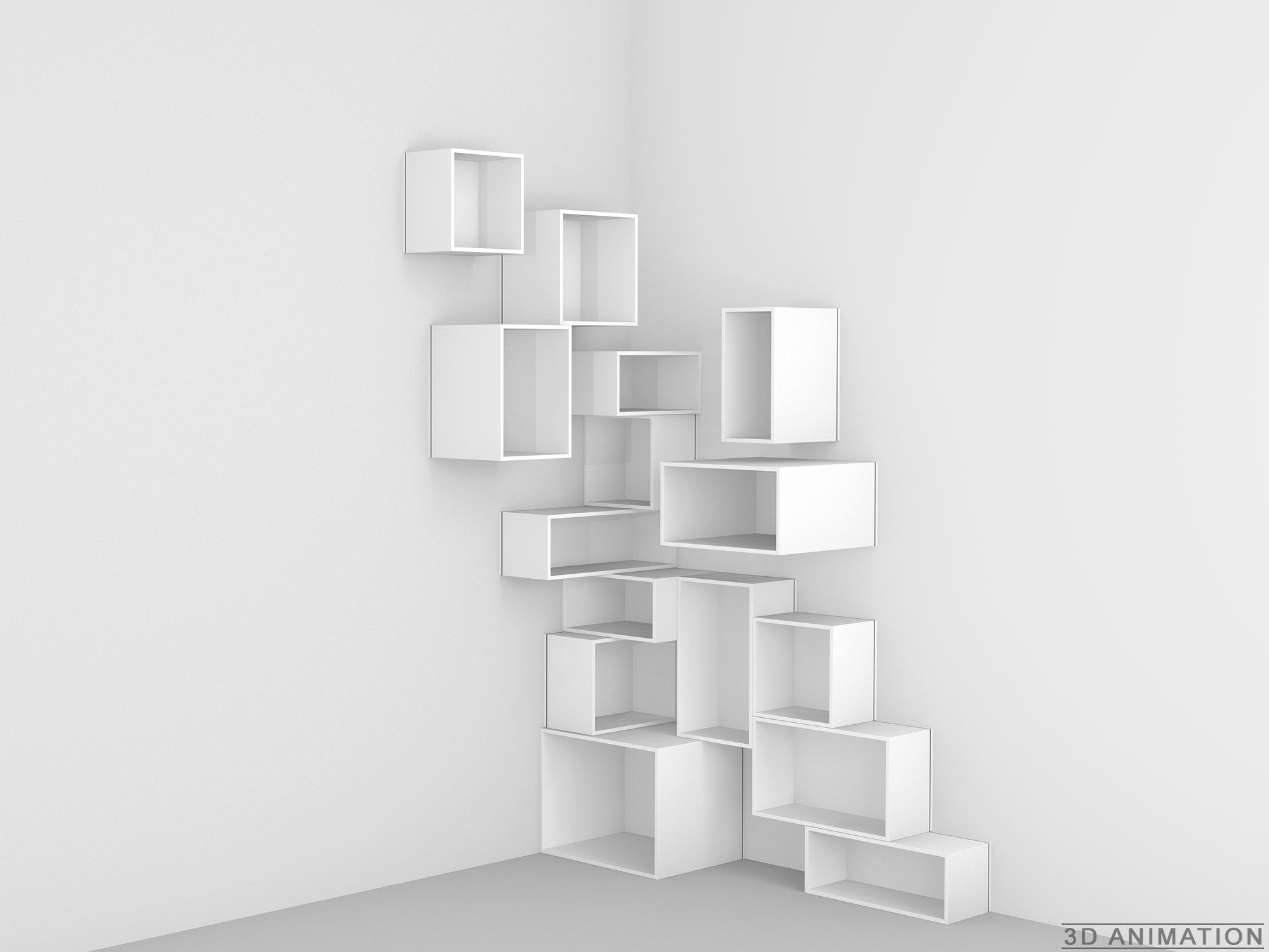 Bibliotheque Modulable By Cubit By Mymito Design Cubit Etagere Angle Idees Etageres Meuble Bureau Design
