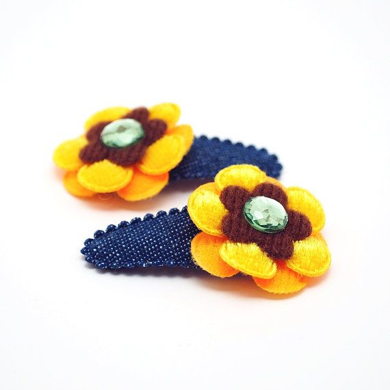 Hey, I found this really awesome Etsy listing at https://www.etsy.com/listing/167316057/sunflower-hair-clip-spring-children-hair