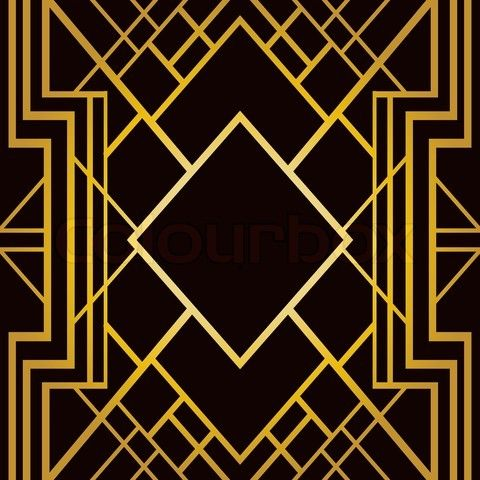 Vector Of Art Deco Geometric Pattern 1920 S Style On Colourbox Art Deco Pattern Art Deco Illustration Art Deco