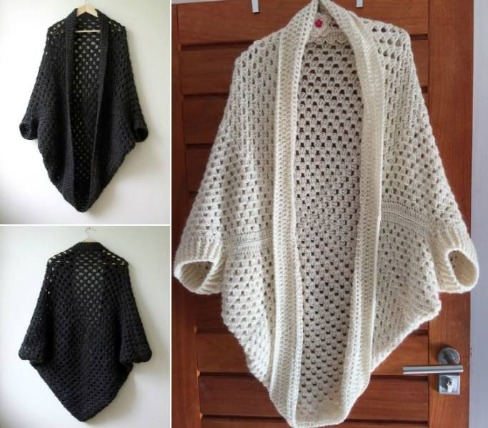 Granny Cocoon Shrug Part 2 Going Viral Crochet Cocoon Free