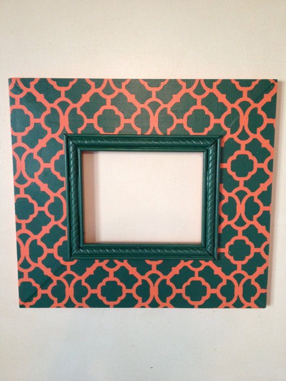 University of Miami distressed picture frame by kitnkaboodlehome ...
