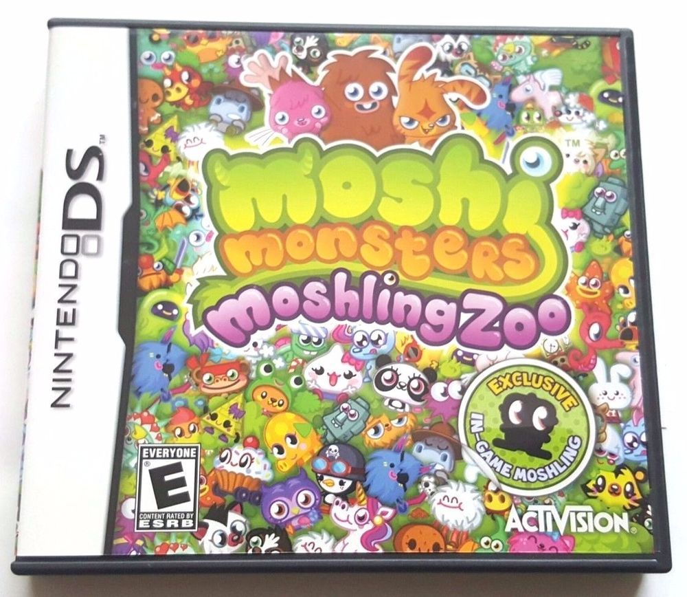Nintendo DS Dsi Dsl CIB Complete Game MOSHI MONSTERS