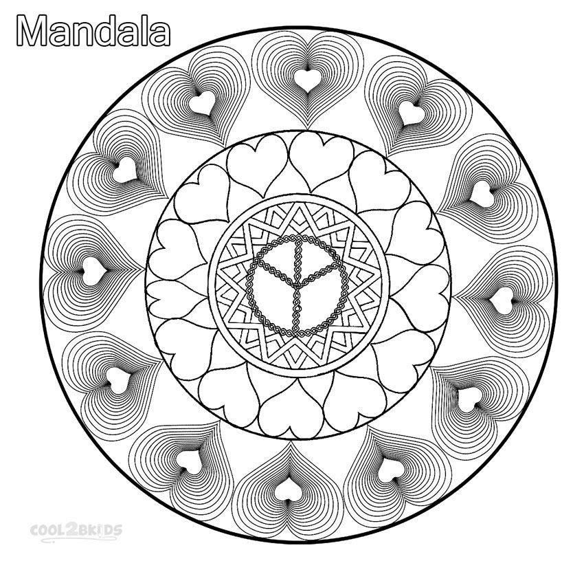 Printable Mandala Coloring Pages For Kids Cool2bKids hearts