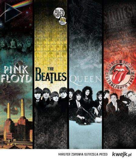 Them Pink Floyd Beatles Queen Rolling Stones Rock And Roll