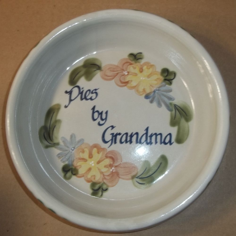 (#361) Louisville Stoneware Made In Kentucky Floral Pies by Grandma Plate Dish