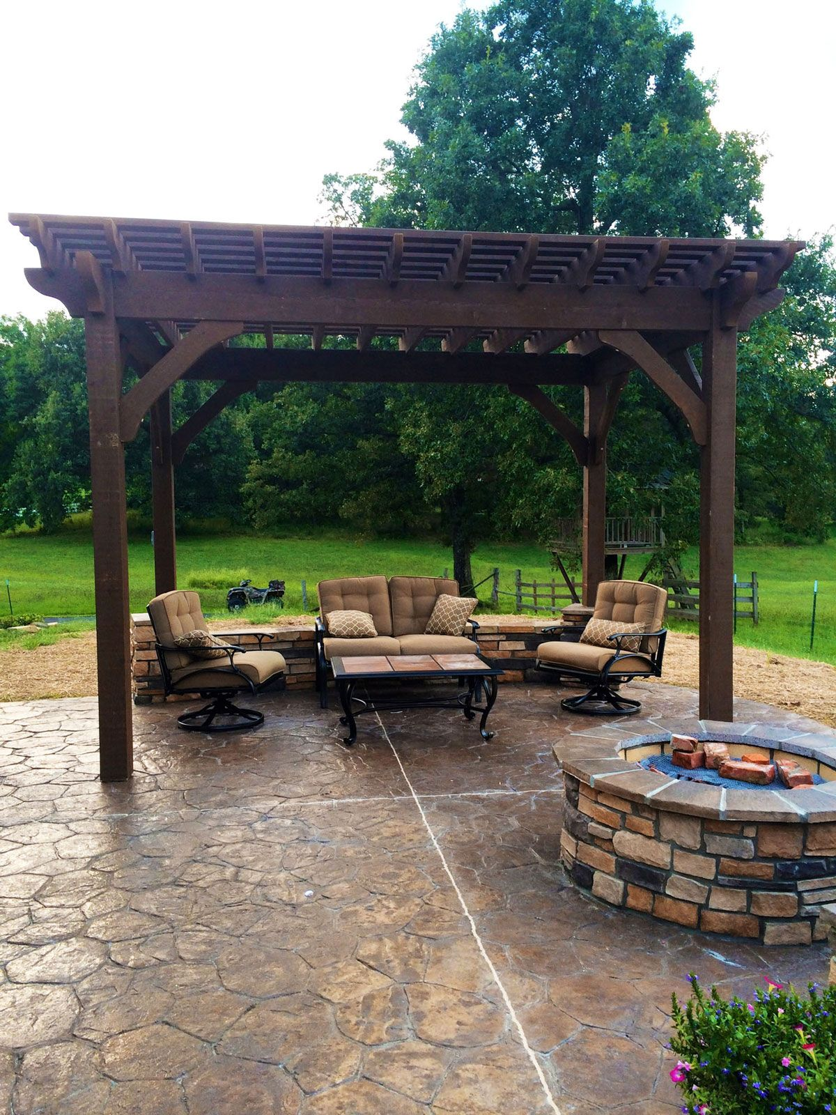 Easy install 10 14 cedar diy pergola kit outdoor