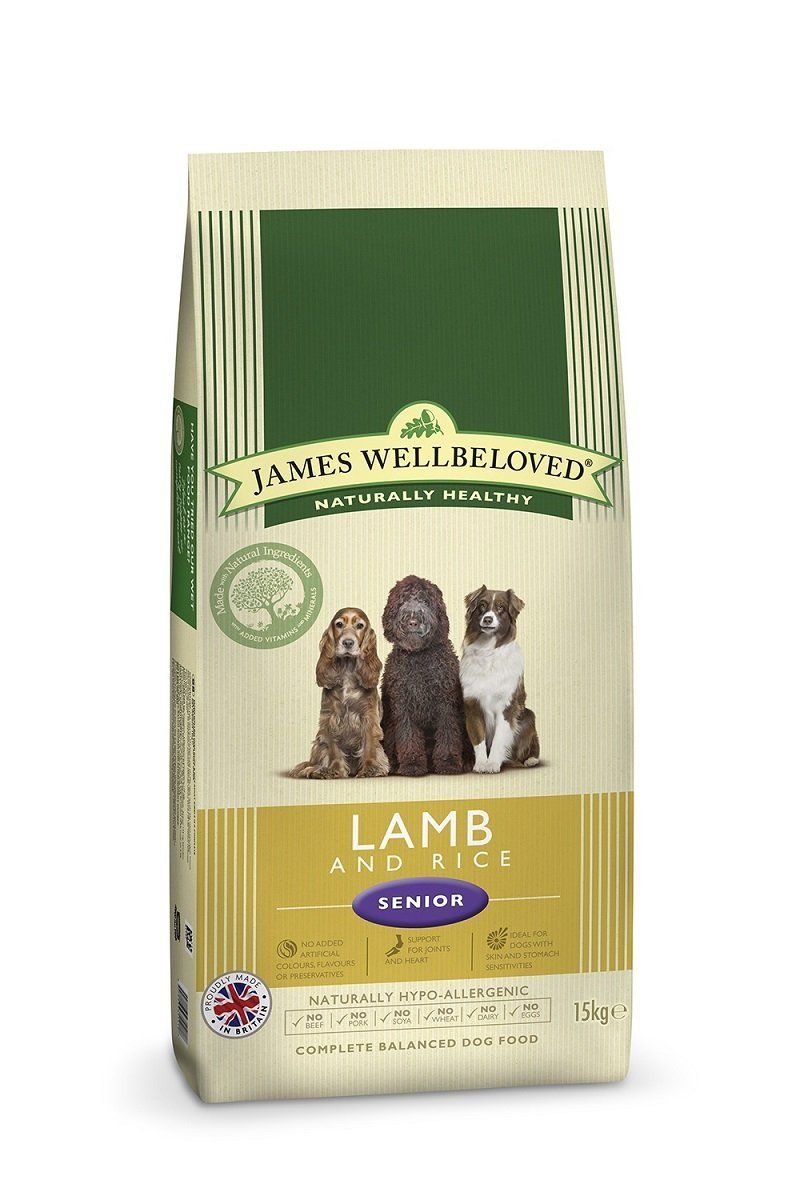 Jameswellbeloved Peteat Dog Food Senior Lamb And Rice Kibble 15kg