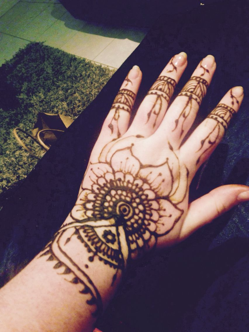 H e n n a this is a quick and semidetailed henna hand decoration